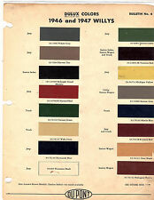 1946 1947 1948 1949 1950 WILLYS JEEP TRUCK JEEPSTER PHAETON PAINT CHIPS 4647D