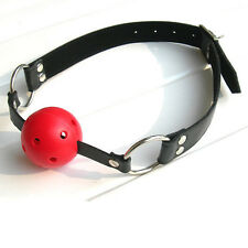 Adult Woman Mouth Ball Gag Mask Set Bondage Fetish Restraint Sexy Toy Cosplay