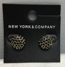 NEW YORK & COMPANY GOLD & BLACK STUD EARRINGS NWT