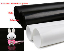 "Photo Background Double Surface Reflection Matte PVC Backdrop 11.8""x15.7""  White"