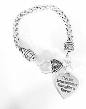 The Love Between Mother And Daughter Is Forever Gift Mom Charm Bracelet