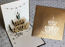 3D Pop Up Card - Greeting Card - 002 - HAPPY BIRTHDAY - High Quality