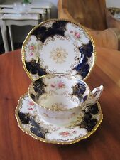 Lovely Antique Coalport Blue Batwing Y2665 Trio Cup Saucer Plate