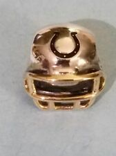 Authentic PANDORA Indy Colts Helmet Sterling & 14k Gold Charm #USB790570-G114