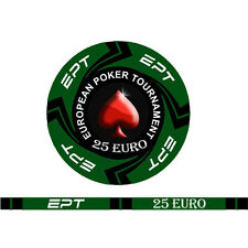 Blister da 25 fiches EPT CASH GAME  Replica poker Ceramica 10 gr. valore 25 EURO