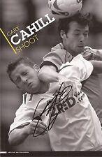 ASTON VILLA: GARY CAHILL SIGNED A4 (12x8) MAGAZINE PICTURE+COA