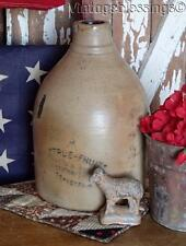 Antique Crock Fruit Syrup JUG Early Soda Fountain Primitive ROCHESTER NY
