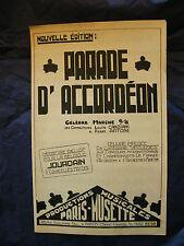 Partition Parade d'accordéon Canziani Artone Music Sheet