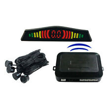 4 Parking Sensors LED Display Car Auto Backup Reverse Radar System Wireless Kit