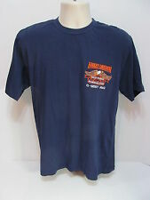 Harley Davidson Medium  Black Embroidered Q West Iraq T Shirt  Item #7D