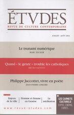 ETUDES Revue de culture contemporaine, Juillet-Août 2014, TSUNAMI NUMERIQUE