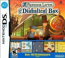 Professor Layton Diabolical Box & The Curious Village (Nintendo DS) Two Games!