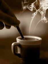 SEPIA STEAM CUP COFFEE ESPRESSO DRINK PHOTO ART PRINT POSTER PICTURE BMP450A