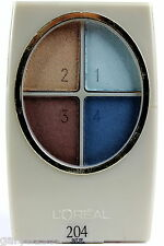L'OREAL WEAR INFINITE 4 SHADE EYE SHADOW - 204 OUT OF THE BLUE -