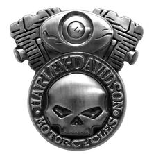 HARLEY DAVIDSON WILLIE G SKULL ENGINE DIE CAST HARLEY  PIN