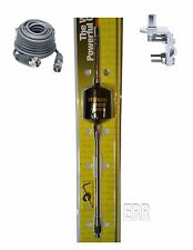 "Wilson 2000 Trucker CB Radio Antenna 305-495 10"" Shaft B,18FT COAX, BRKT,STUD"