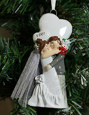 Personalised Christmas Ornament for First Married Newlyweds - Couple I DO !