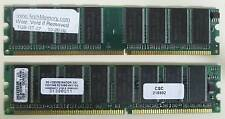 2x1Gb (2Gb total) DDR1 PC2700 Non-ECC Tested Memory