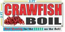 CRAWFISH BOIL BANNER Sign NEW Larger Size Best Quality for the $$$