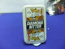 vtg badge double diamond bitter brewery advert  tin badge 1960s 70s playing card