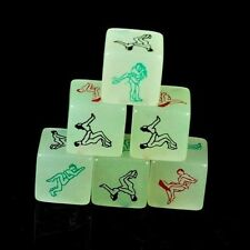 Adult sex dice jouet glow in the dark hen stag night party lumineux vert cadeau nouveau
