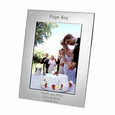 Personalised Silver Plated Photo Picture Frame 7x5 Engraved Any Message Wedding