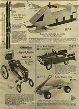 1972 ADVERT Toy Ward's Garden Mark Tractor Pedal Car Rally Wagon Fire Fighter