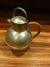 """Antique pewter pitcher, american ca. 1930, marked 7 1/4"""" tall [Y8-W7-A9-E9]"""