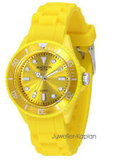 Madison New York MINI PASTELL GELB  L4167-21 Damen Kinderuhr Uhr Silikon neu