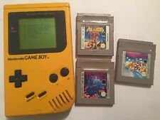 ORIGINAL NINTENDO GAME BOY GBC NGB YELLOW CONSOLE +games bundle mario metroid ii