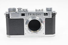 Nikon S Rangefinder Film Camera Body Chrome                                 #523