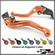 Strada 7 CNC Shorty Adjustable Levers Honda CBR1100XX BLACKBIRD 1997-2007 Orange