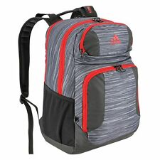 NWT Adidas Strength Laptop Backpack Gray Print Red