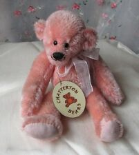 Lovely 'Rosa' pinky peach fully jointed mohair artist bear by Chatterton Bears