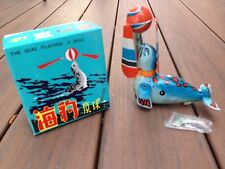 VINTAGE TIN WIND-UP TOY THE SEAL PLAYING A BALL + BOX CHINA NEW NOS NIB