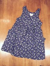 Women's Baby Doll Dress 18/20 Vintage 1990s Lane Bryant Floral Blue Empire Waist