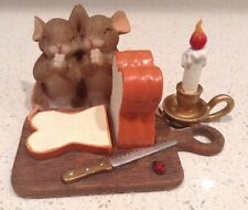 Thankful For Our Daily Bread Charming Tails Figurine Mice Praying Retired