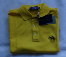 "RALPH LAUREN PURPLE LABEL   Polohemd MADE IN ITALY ""BRIGHT YELLOW"" Gr M"