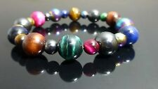 Rainbow Tiger's Eye Bracelet and Magnetic Hematite