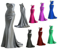 New Long Formal Evening Prom Ball Gown Party Bridesmaid Dress Stock Size 6-16