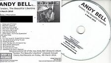 ANDY BELL Torsten The Beautiful Libertine 2016 UK 17-trk promo test CD