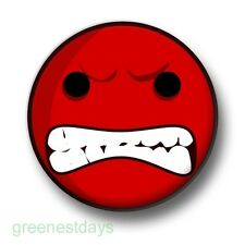 Mega Angry Smiley 1 Inch / 25mm Pin Button Badge Smileys Emoticons Rage Emo Goth