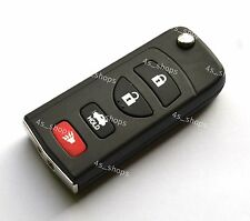 Remote Key Shell Case Folding Flip For INFINITI G35 I35 350Z Nissan 4 Buttons