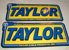 "2 Taylor Cable Prod Racing  Decals Stickers 9"" Long X 3 5/8"" Tall NASCAR NOS"
