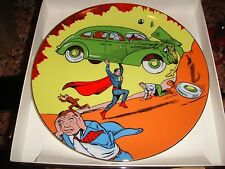 SUPERMAN 50th Birthday Action Comics #1 COLLECTOR'S PLATE SIGNED NEW!! statue