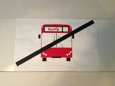 "First London Bus Blind (14"") Shabby Chic Retro - No Bus White"