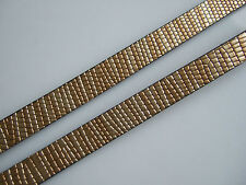 1 Yard Gold Beige 10mm Flat Faux Snake Skin Synthetic Leather Cord Jewellery