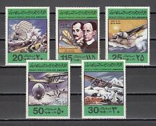 """ Libya, Scott cat. 769-773. Anniv. of Flight. Lindburgh & Wright Brothers"