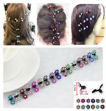 6Pcs New Crystal Flower Mini Hair Claw Clamp Hair Clip Hair Pin Hair Accessories