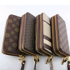 Women's Clutch buckle Soft Leather Wallet Lady PU Long Card Purse Handbag SIM